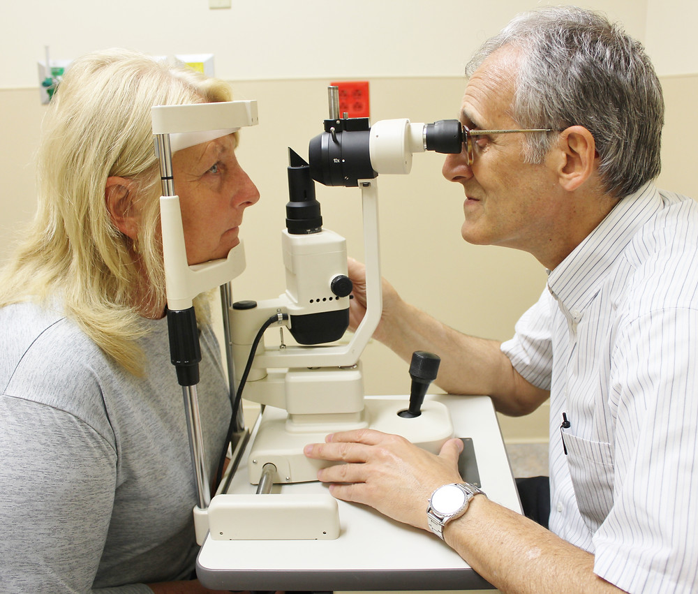 Dr. Cassis with patient, Sandra Harvey