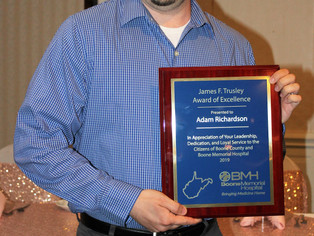 Adam Richardson named BMH Employee of the Year