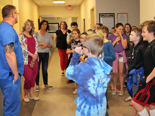 Ramage Elementary students learn about medical careers at Boone Memorial