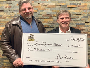 Driven Knights donates $10K to BMH to bring in a youth drug prevention program