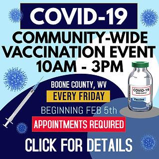 COVID-19 COMMUNITY VACCINATION EVENT-WEB