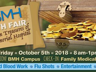 Annual BMH Health Fair, October 5th