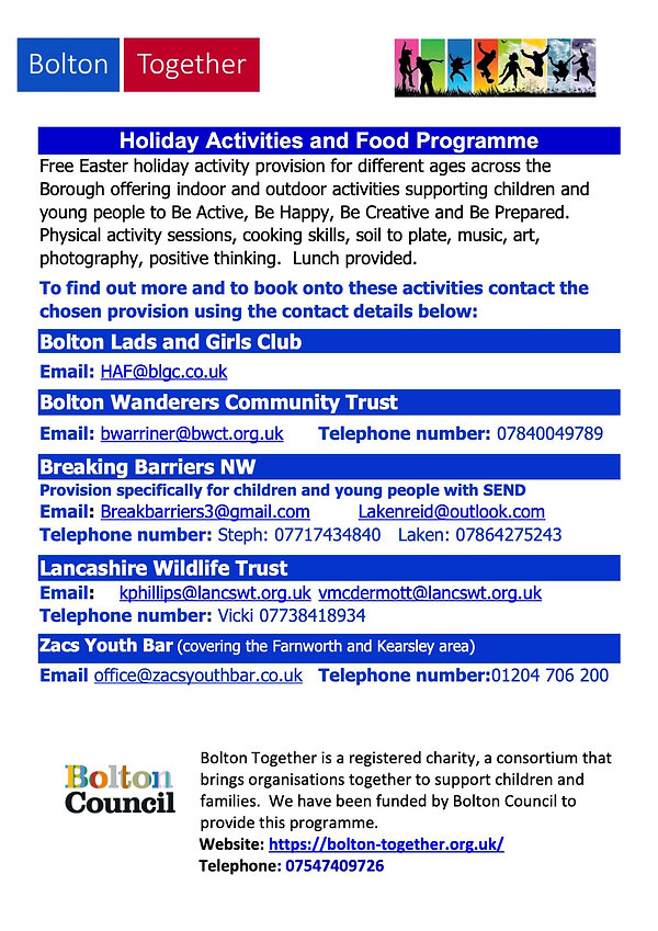 Bolton Together Holiday and Food and Act