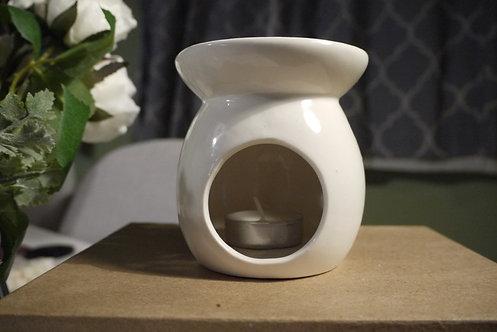 Round White Ceramic Wax burner