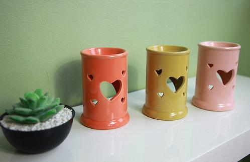 Tall Tart Heart Cut Out Ceramic Wax / Oil Burner