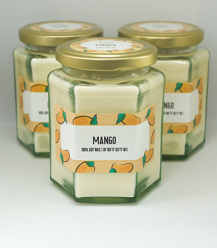 Mango Scented Soy Wax Candle