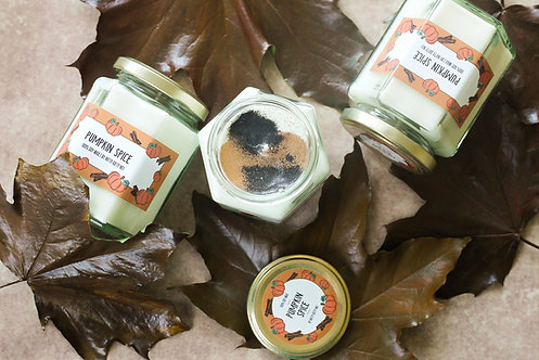 Pumpkin Spice Scented Soy Wax Candle - Vegan Friendly