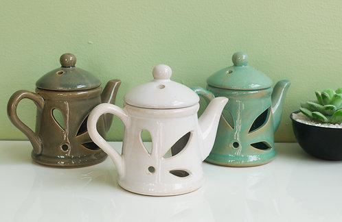 Teapot Wax / Oil Burner with Novelty Lid Ceramic Wax / Oil Burner