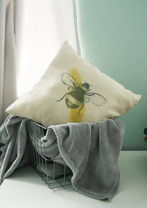 Bee - handmade cushion