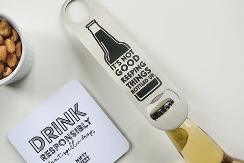 Quote - Stainless Steel 'Bar Blade' Bottle Opener - Gifts for him
