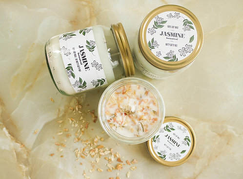 Botanical Jasmine - Soy Wax Candle - Vegan Friendly