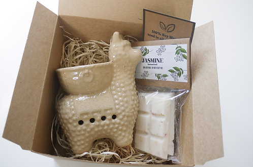 Llama Ceramic Wax Burner + Wax Melt (of your choice) - Gift Set