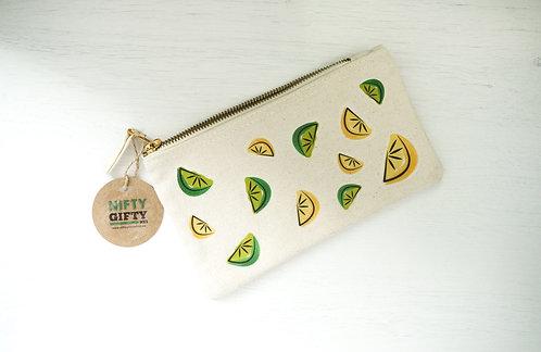 Lemons & Limes Handmade Cosmetic / Pen case