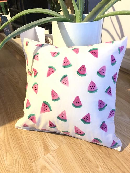 Watermelon - hand painted cushion