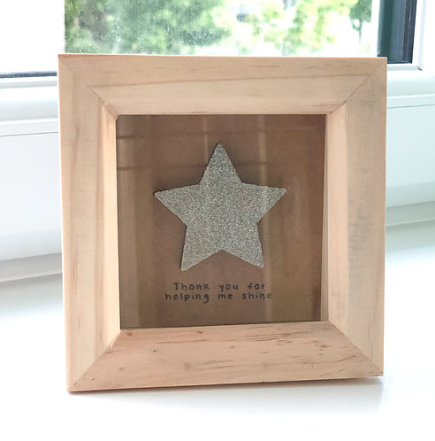 """Mini craft frame:""""Thank you for helping me shine""""- Appreciation / Teacher's gift"""