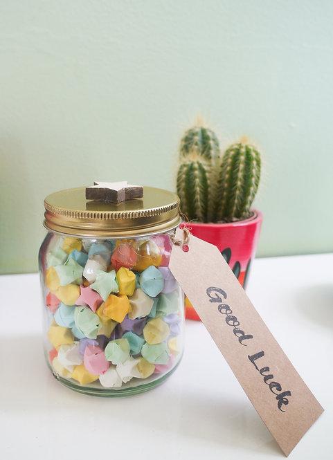 Lucky Star Jar - Birthday / Good Luck / Teacher's gift etc.