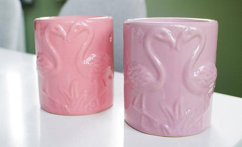 Pink Flamingo Ceramic Wax / Oil Burner