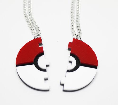 Pokeball Friendship Necklace
