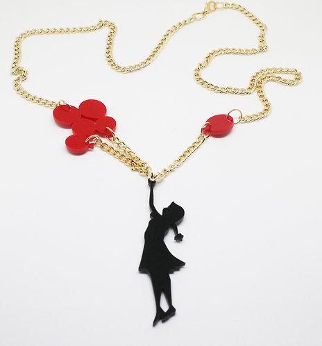 Banksy Balloon Girl Necklace