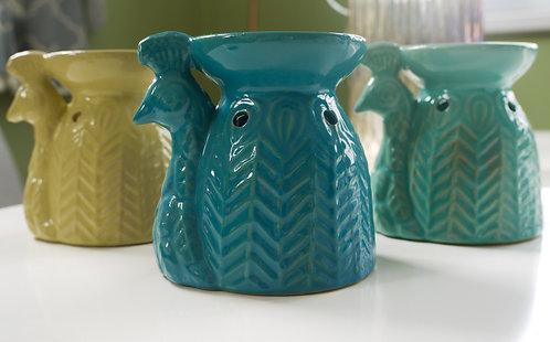 Ceramic Peacock Wax / Oil Burner