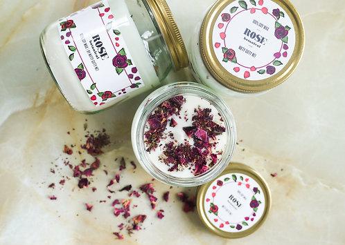 Botanical Rose - Soy Wax Candle - Vegan Friendly