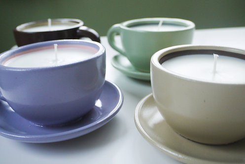 Cuppa Candle - Teacup & Saucer vanilla scented