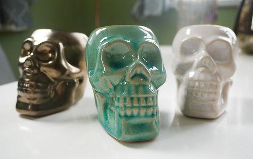 Mini Skull Ceramic Wax / Oil Burner