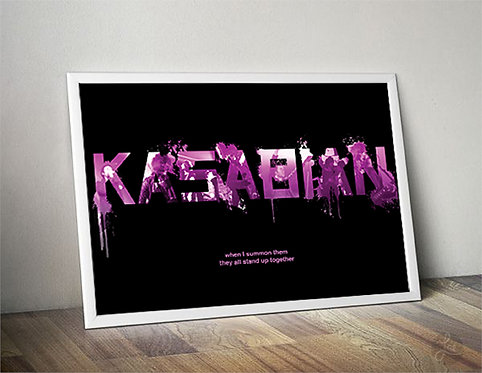 "Kasabian Print  - ""When I summon them they all stand up together"""