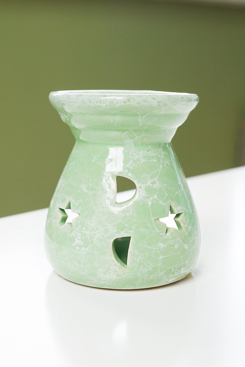 Stars & Moon - Green - Ceramic Wax Burner