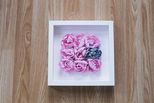 Flower Box Frame - Pink Peony