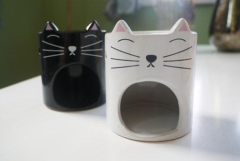 "Cat ""Feline Fine"" Ceramic Wax / Oil Burner"