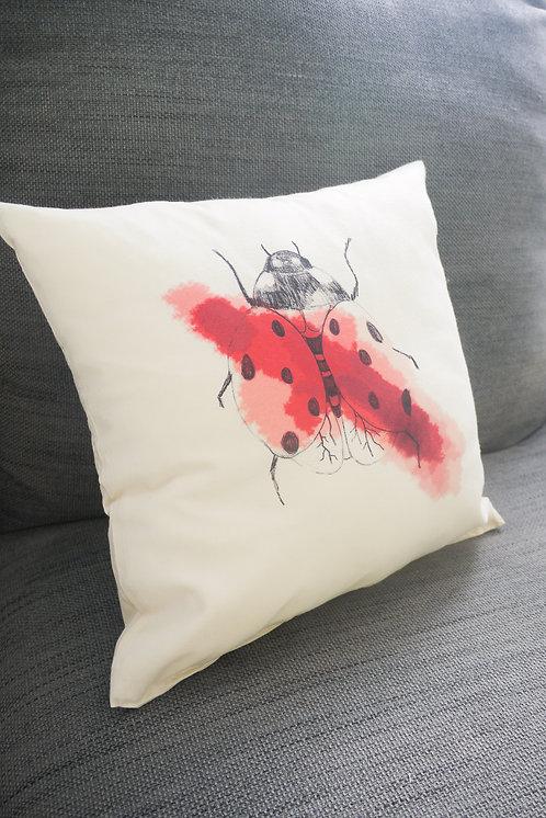 Ladybird - handmade cushion