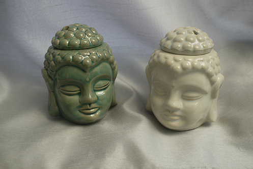 Crackle Glaze Thai Buddha Head Wax/Oil Burner - Relaxing aromatherapy