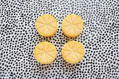 Sweet Lemon & Clementine - Pack of 4 Soy Wax Melts - Vegan Friendly