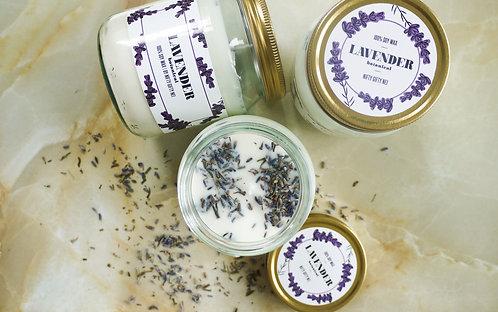 Botanical Lavender Soy Wax Candle - Vegan Friendly