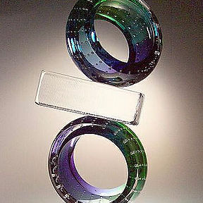 Leon Applebaum Wedding Bands. Contemporary glass art