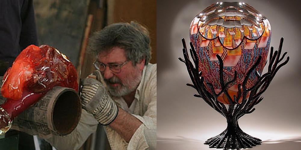 David J. Schwarz studio creating glass art