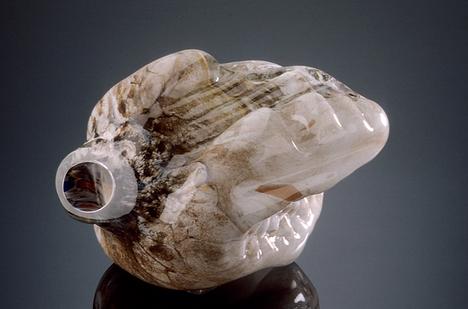 Marvin Lipofsky Discount Glass Art on Sale California Storm Series 1982-83 Glass Sculpture Organic Forms