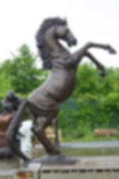 Giant Rearing Bronze Horse Statue from GlassArt.net