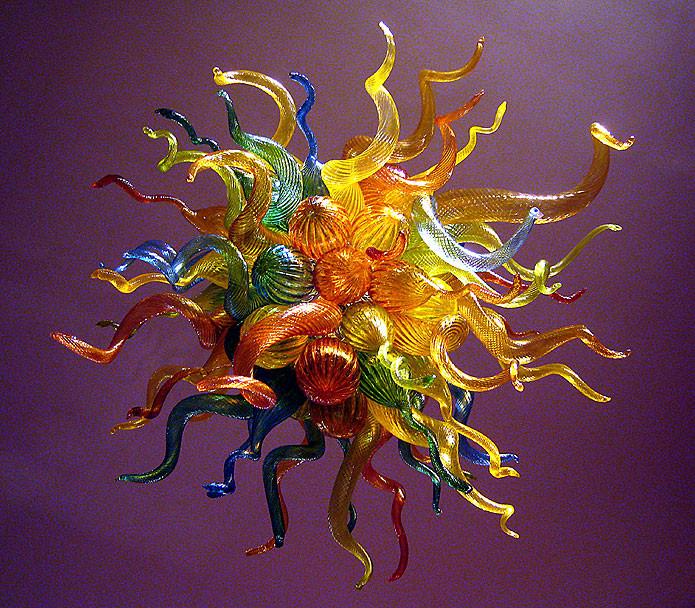 Custom Blown Glass Art Chandelier