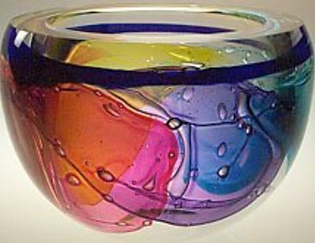 Leon Applebaum Round Bowl glass art