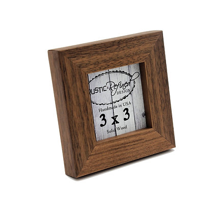 """3x3 1"""" Gallery Picture Frame - Solid Black Walnut"""