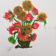 Inspired from 'Sunflowers' by Van Gogh