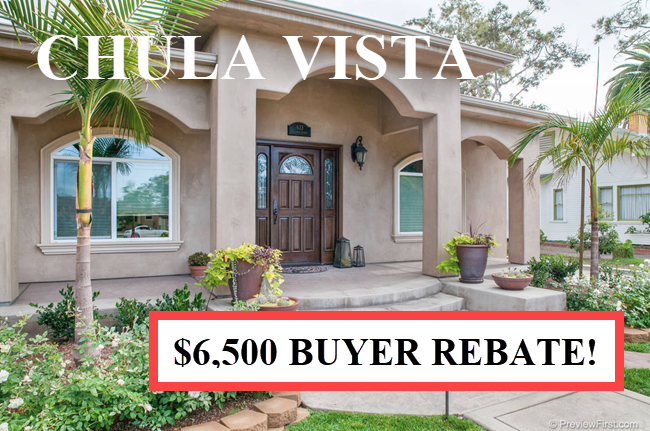 Buyer Rebate San Diego Savings Chula Vis