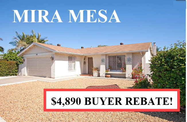 Buyer Rebate San Diego Savings Mira Mesa