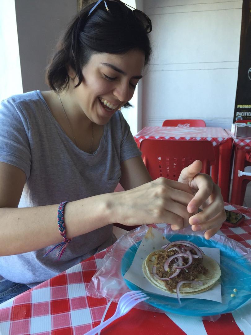 Lady eating tio Pepe.jpg