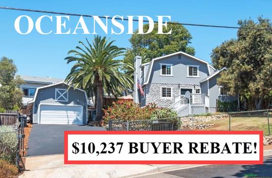 Buyer Rebate San Diego Savings OCEANSIDE