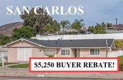 Buyer Rebate San Diego Savings SAN CARLO