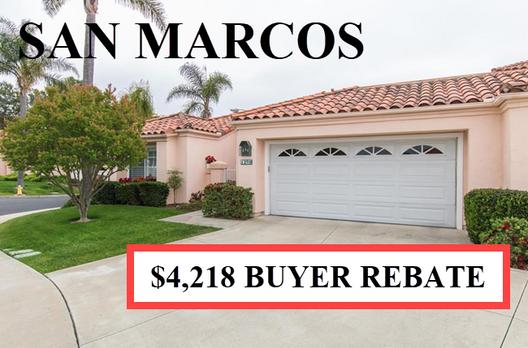 Buyer Rebate San Diego Savings SAN MARCO