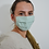 Thumbnail: Teal Reusable Face Mask in Organic Cotton